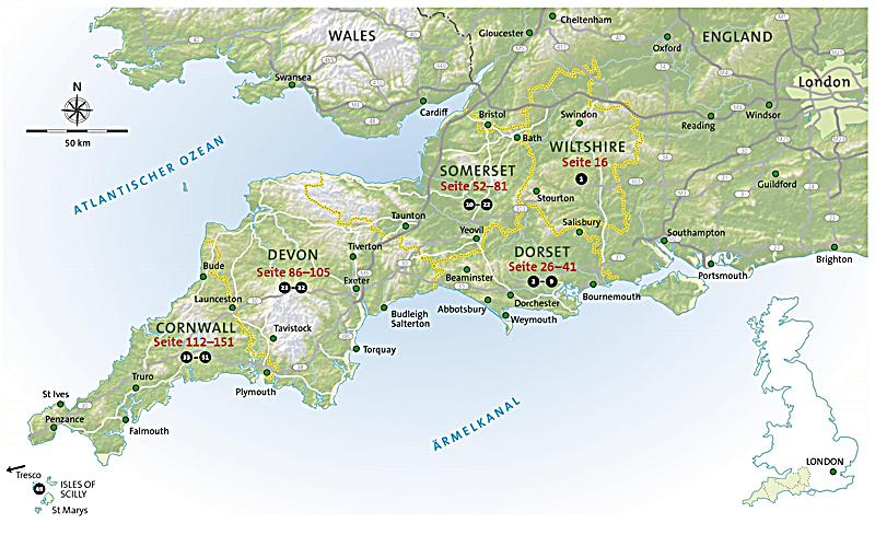 Google Maps Südwestengland