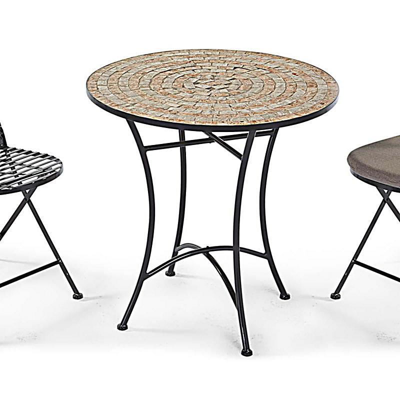 gartentisch kemo metallgestell mit mosaikplatte 70cm. Black Bedroom Furniture Sets. Home Design Ideas