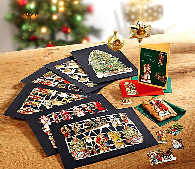 glanzbilder weihnachten nostalgie 6 b gen. Black Bedroom Furniture Sets. Home Design Ideas