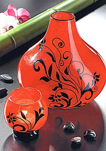 glas porzellan mit farbe individuell gestalten buch. Black Bedroom Furniture Sets. Home Design Ideas