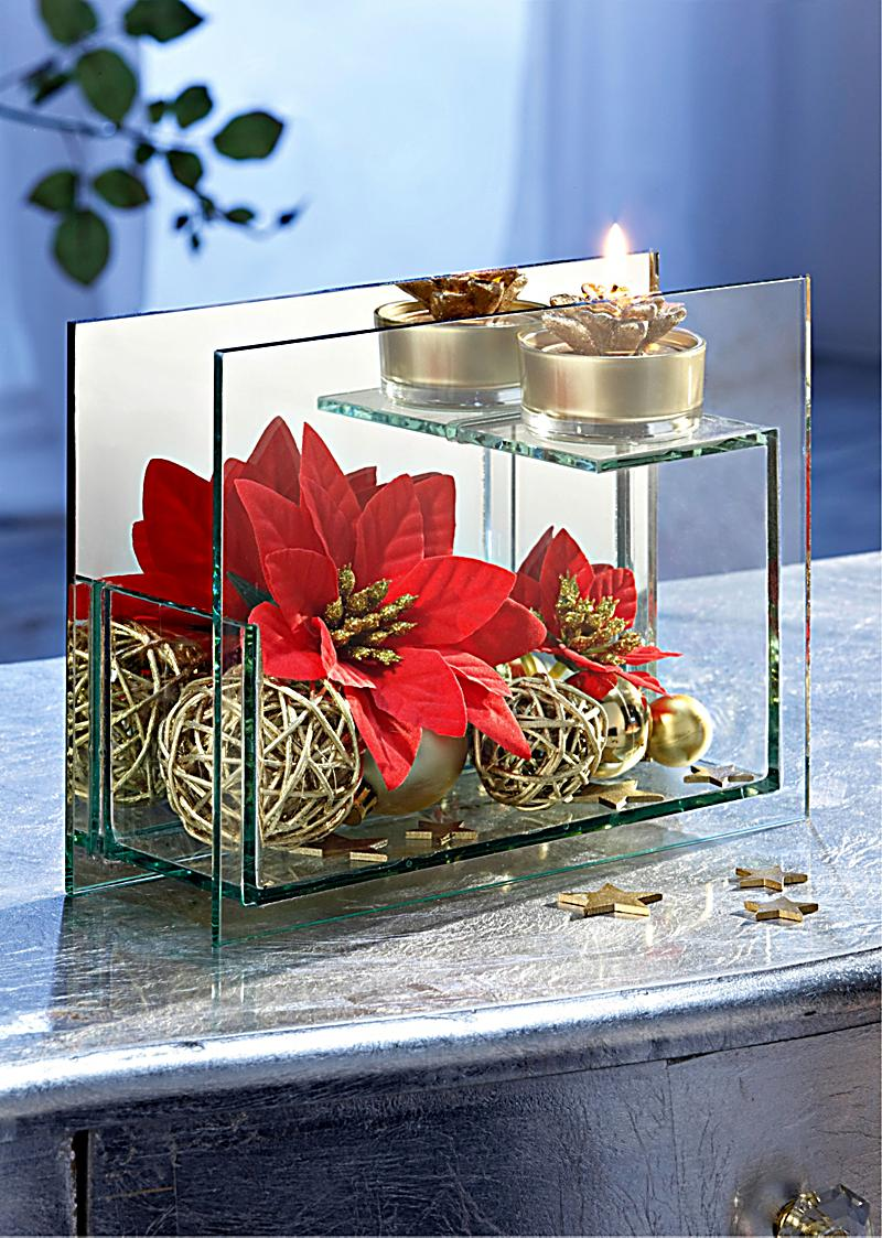 glas teelichthalter weihnachtsstern bestellen. Black Bedroom Furniture Sets. Home Design Ideas