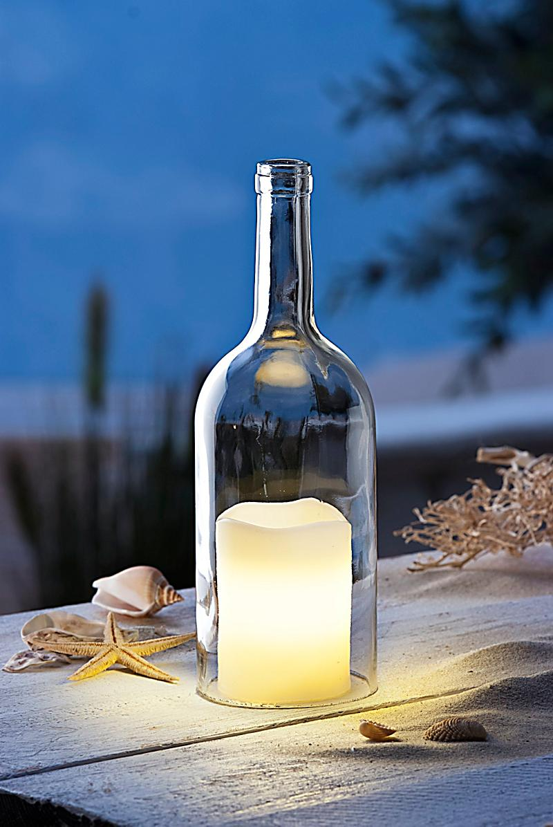 glasflasche mit led kerze jetzt bei bestellen. Black Bedroom Furniture Sets. Home Design Ideas