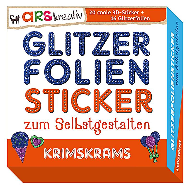 glitzerfolien sticker zum selbstgestalten krimskrams. Black Bedroom Furniture Sets. Home Design Ideas