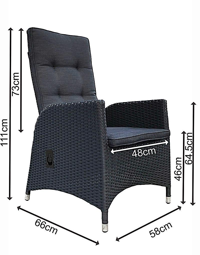 ... Grasekamp 2 Stück Polyrattan Sessel Mit Auflagen Gasdruck Gartensessel  Verstellbar Gartenmöbel Stuhl Rattan Geflecht   Produktdetailbild