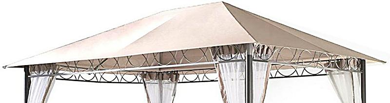 grasekamp ersatzdach zu stil pavillon 3x4 m farbe sand. Black Bedroom Furniture Sets. Home Design Ideas
