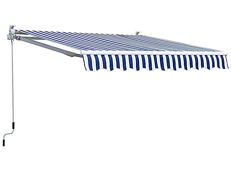 grasekamp markise 250 x 150 cm farbe blau wei. Black Bedroom Furniture Sets. Home Design Ideas