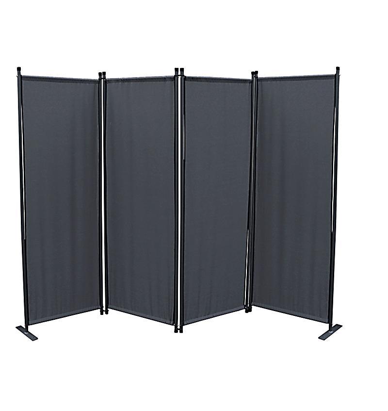 grasekamp paravent 4 teilig farbe grau bestellen. Black Bedroom Furniture Sets. Home Design Ideas