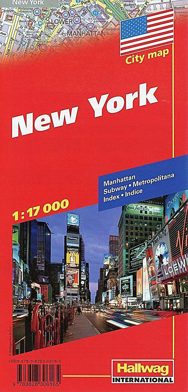 hallwag citymap new york stadtplan 1 17 000 buch. Black Bedroom Furniture Sets. Home Design Ideas