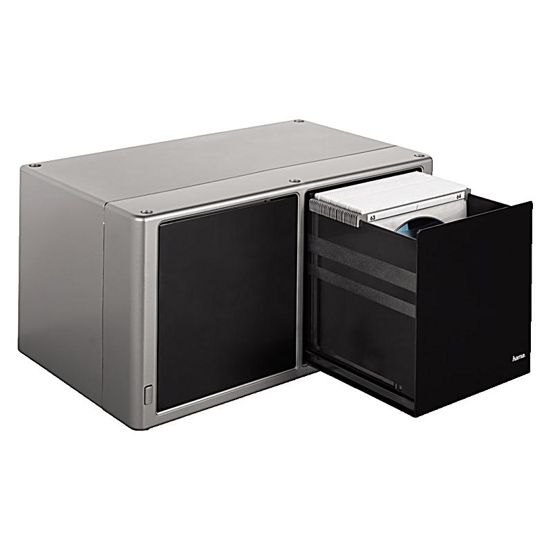hama cd box magic touch 120 silber bestellen. Black Bedroom Furniture Sets. Home Design Ideas
