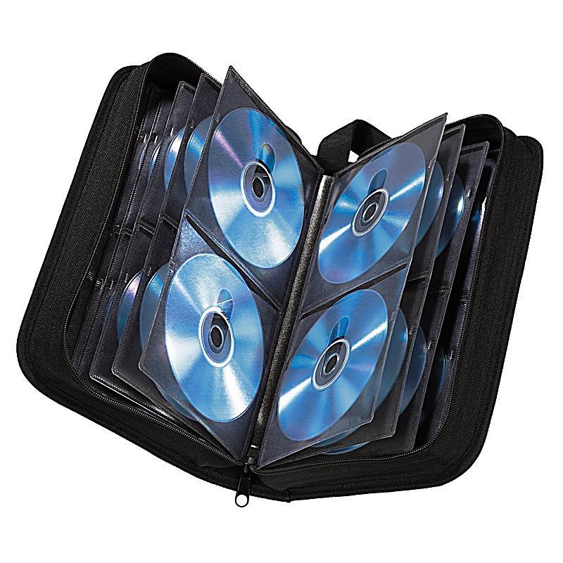 hama cd dvd blu ray tasche 104 schwarz bestellen. Black Bedroom Furniture Sets. Home Design Ideas