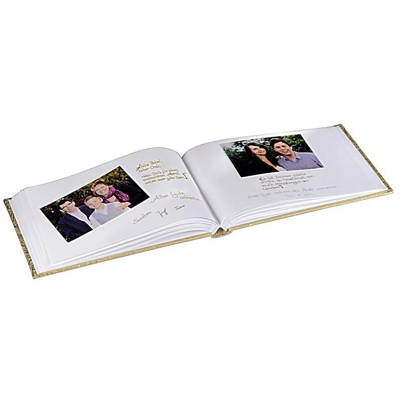hama foto und g ste album caracas 30x20 cm 60 weisse seiten gold. Black Bedroom Furniture Sets. Home Design Ideas