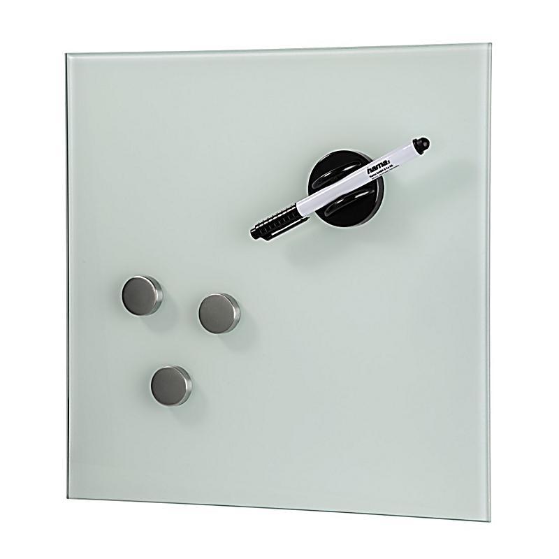 hama glas magnetboard 30 x 30 cm weiss bestellen. Black Bedroom Furniture Sets. Home Design Ideas