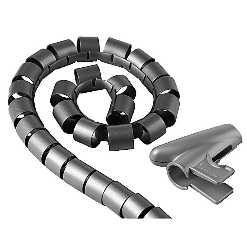 Hama Kabelbündel-Schlauch, 1,5 m, 30 mm, Silber
