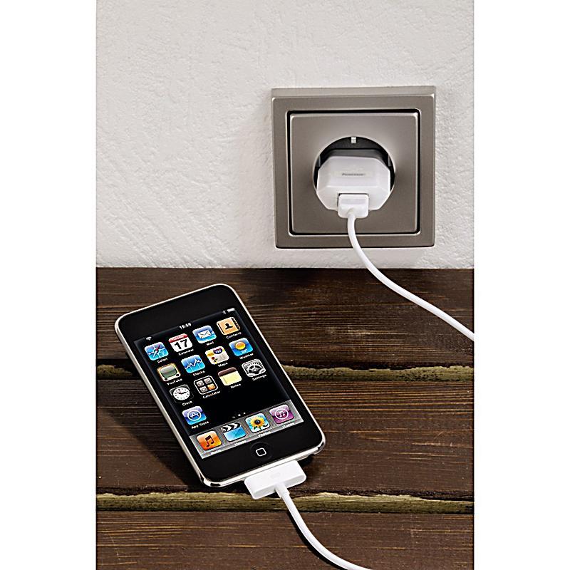 hama usb ladeger t f r ipod iphone bestellen. Black Bedroom Furniture Sets. Home Design Ideas