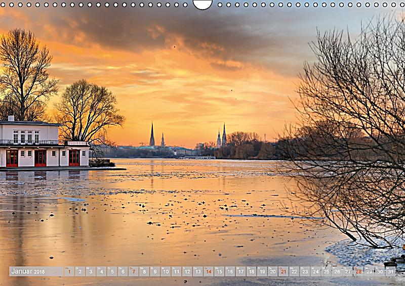 hamburg stadt an der alster und elbe wandkalender 2018 din a3 quer kalender bestellen. Black Bedroom Furniture Sets. Home Design Ideas