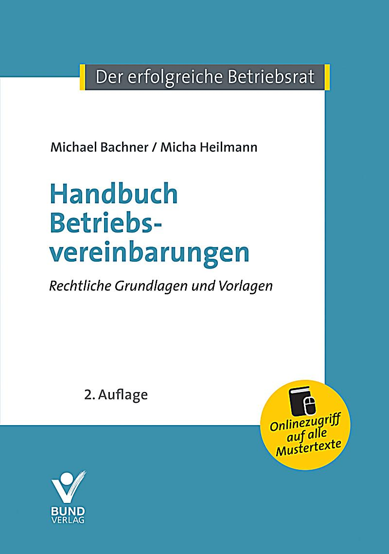 handbuch betriebsvereinbarungen buch portofrei bei. Black Bedroom Furniture Sets. Home Design Ideas