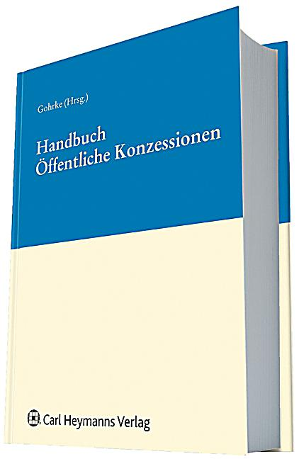 handbuch ffentliche konzessionen buch portofrei bei. Black Bedroom Furniture Sets. Home Design Ideas