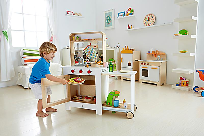 hape all in one k che kinderk che spielk che. Black Bedroom Furniture Sets. Home Design Ideas