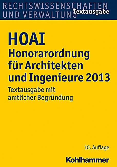 hoai honorarordnung f r architekten und ingenieure 2013 buch. Black Bedroom Furniture Sets. Home Design Ideas