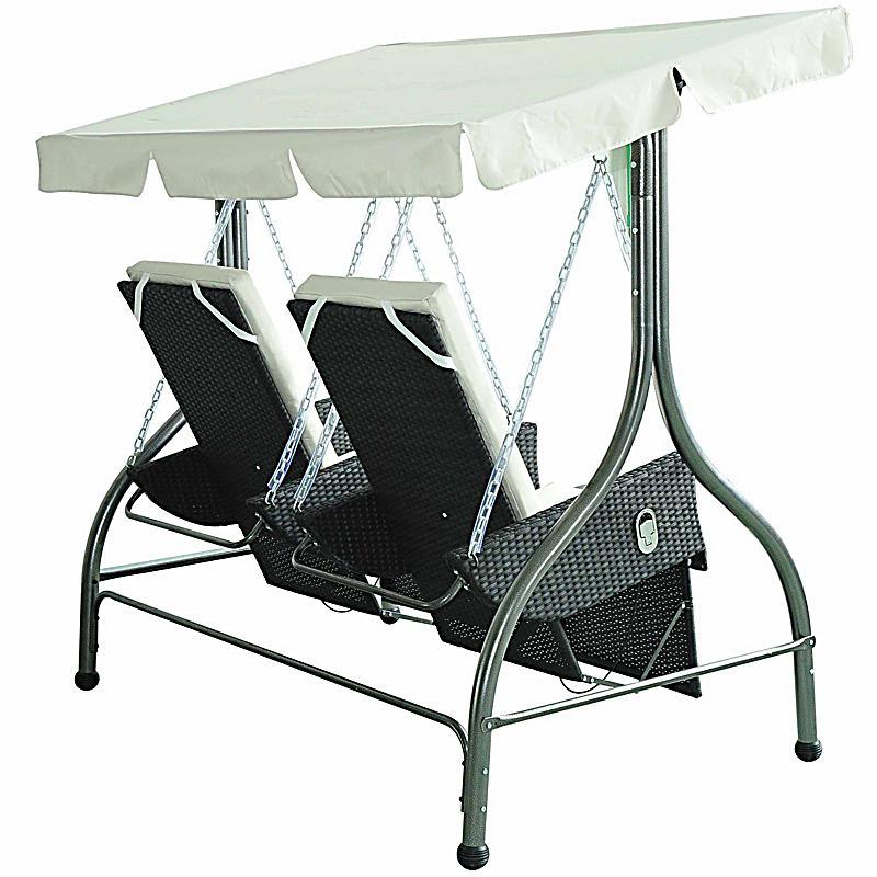 hollywoodschaukel mit liegefunktion und sonnendach. Black Bedroom Furniture Sets. Home Design Ideas