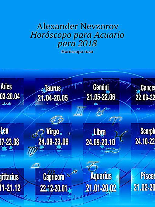 Hor scopo para acuario para 2018 hor scopo ruso ebook for Horoscopo para acuario