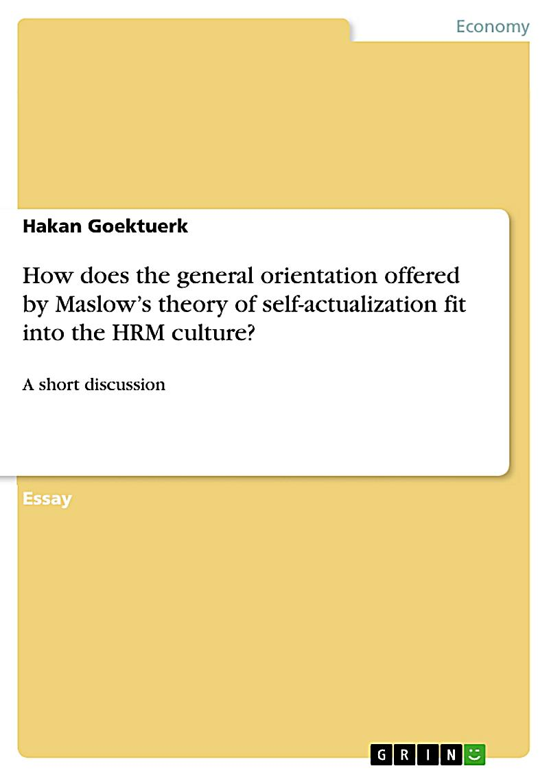 self esteem theory maslow pdf