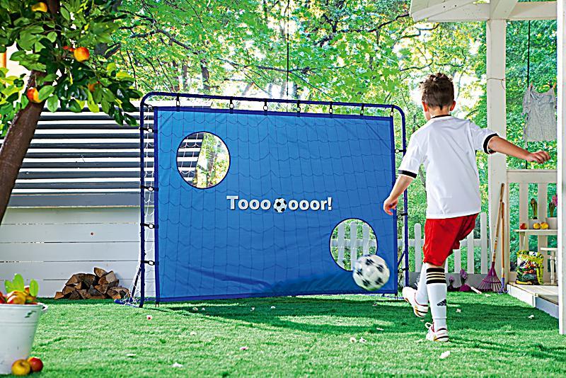 hudora fussballtor kick it mit torwand bestellen. Black Bedroom Furniture Sets. Home Design Ideas