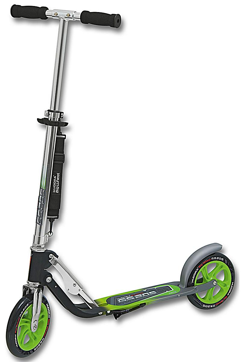 hudora scooter big wheel gs 205 anthrazit gr n. Black Bedroom Furniture Sets. Home Design Ideas