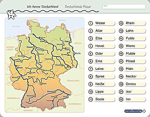 Stumme Karte Deutschland
