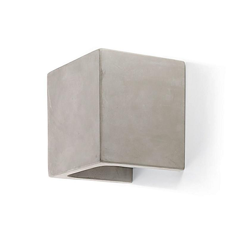 impressionen living beton wandleuchte grau quadratisch. Black Bedroom Furniture Sets. Home Design Ideas