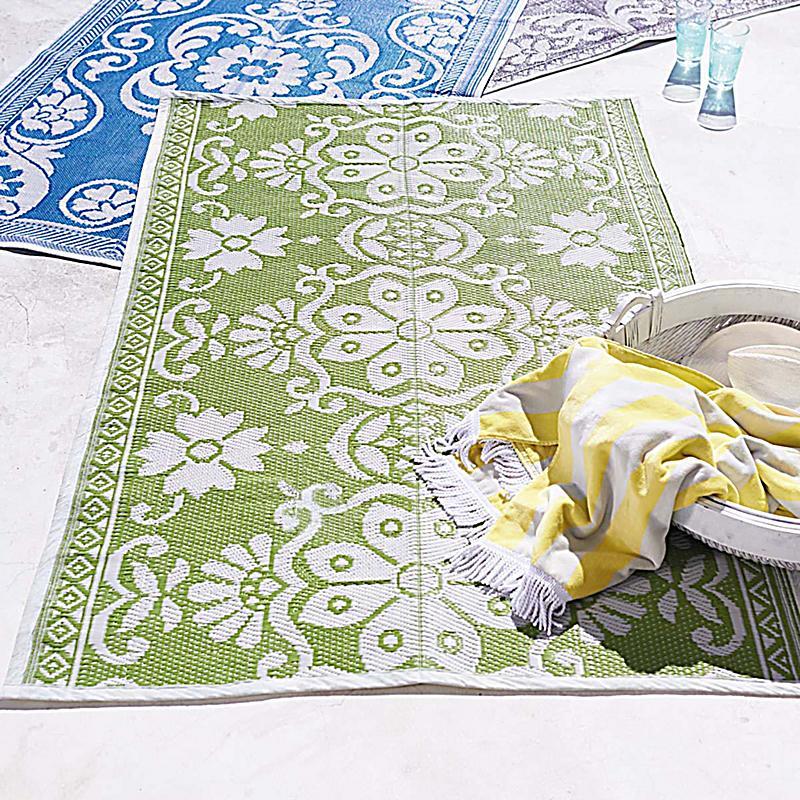 impressionen living outdoor teppich hellgr n 120 x 180 cm. Black Bedroom Furniture Sets. Home Design Ideas