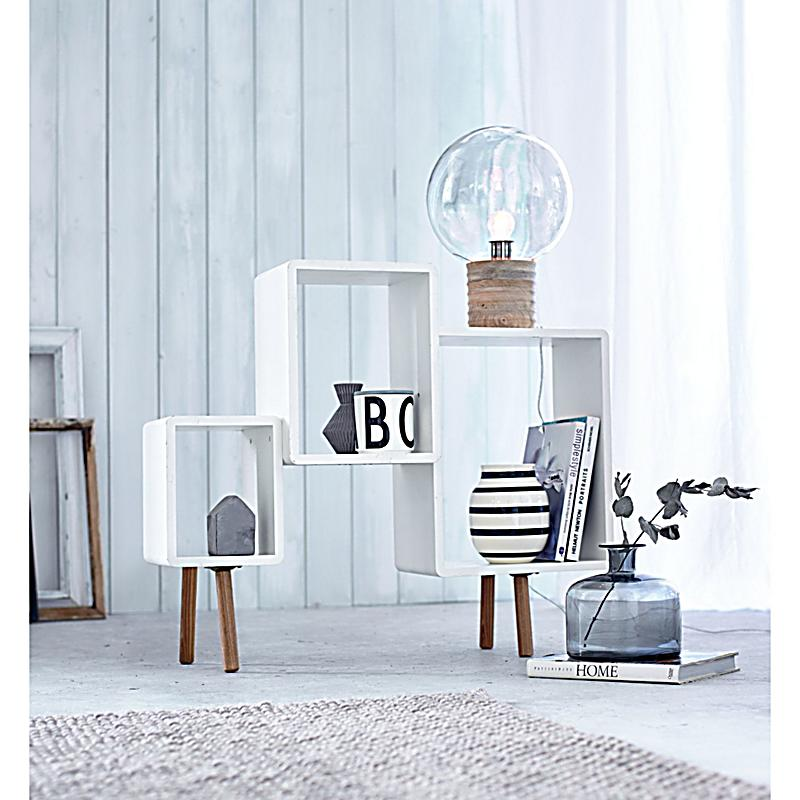 impressionen living regal weiss natur bestellen. Black Bedroom Furniture Sets. Home Design Ideas