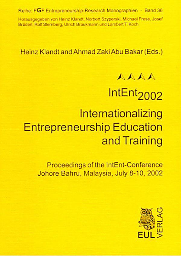 Intent2002 Internationalizing Entrepreneurship Education