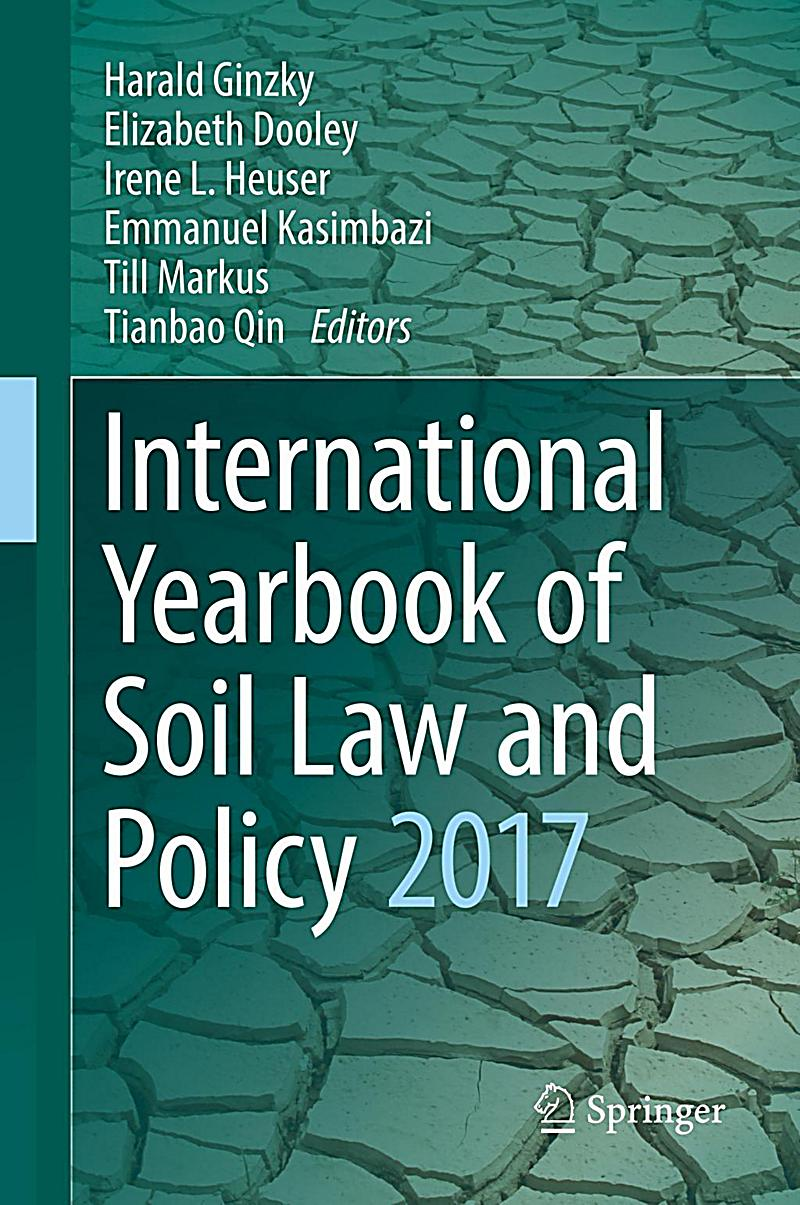 International yearbook of soil law and policy 2017 buch for Soil 2017 book