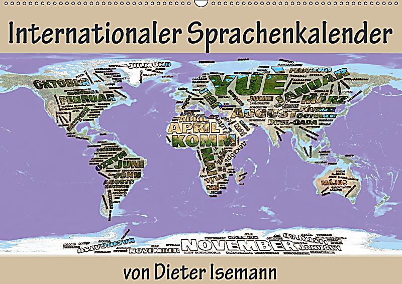 Internationaler sprachenkalender wandkalender 2018 din a2 for Klebefliesen ka chenwand