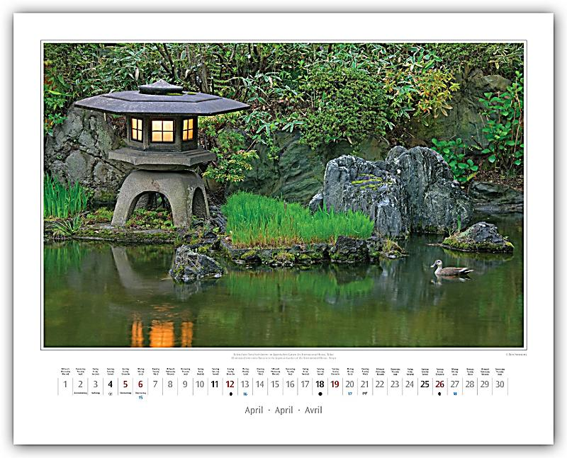 japanische g rten 2015 japanese gardens 2015 kalender. Black Bedroom Furniture Sets. Home Design Ideas