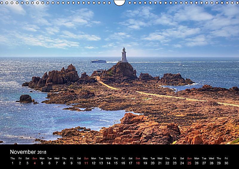 Jersey guernsey channel islands wall calendar 2018 din for Garden design jersey channel islands
