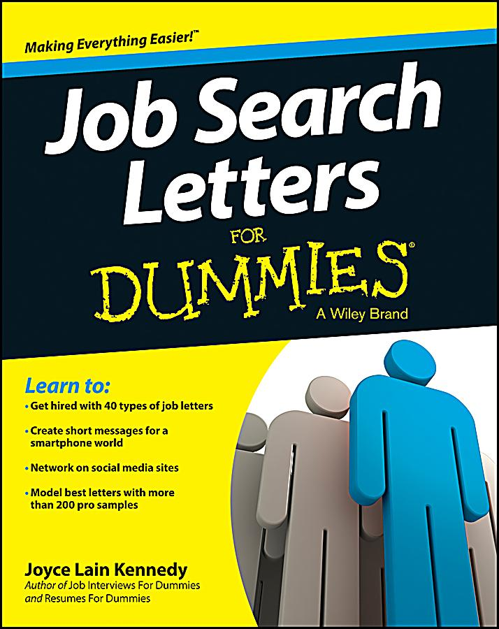 Job Search Letters For Dummies Pdf