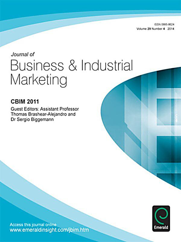 journal of business industrial marketingbranding in International journal of business and economics research (ijber) serves as an essential resource and provides practical information for people who apply economics.