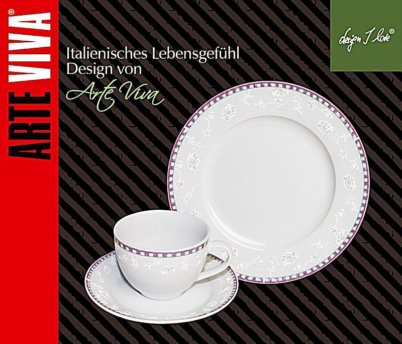 kaffeeservice amorosa grau pink 18tlg bestellen. Black Bedroom Furniture Sets. Home Design Ideas
