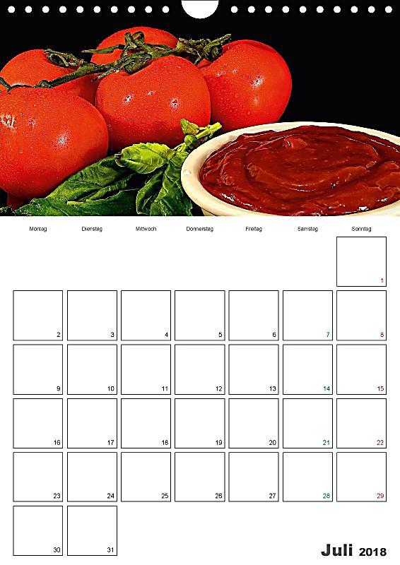 kalender f r die k che von ludvik rajbar wandkalender 2018 din a4 hoch kalender bestellen. Black Bedroom Furniture Sets. Home Design Ideas