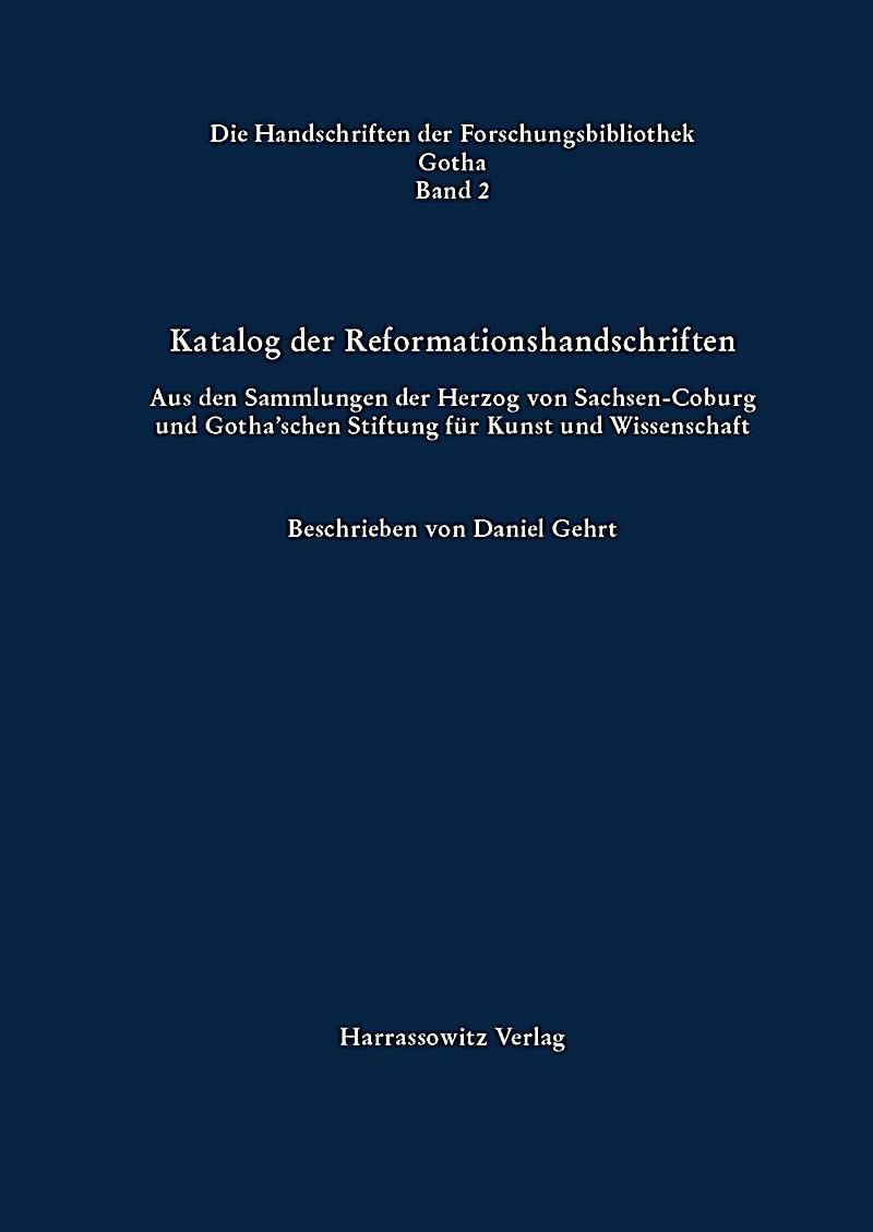 Katalog Der Reformationshandschriften Buch Portofrei