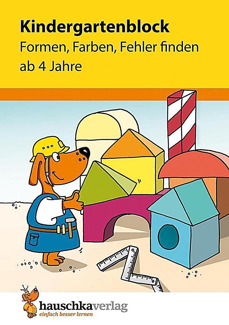 Kindergartenblock - Formen, Farben, Fehler finden ab 4 Jahre Buch