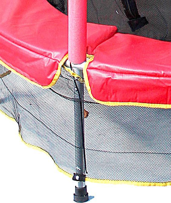 kindertrampolin mit netz 140 cm farbe rot. Black Bedroom Furniture Sets. Home Design Ideas