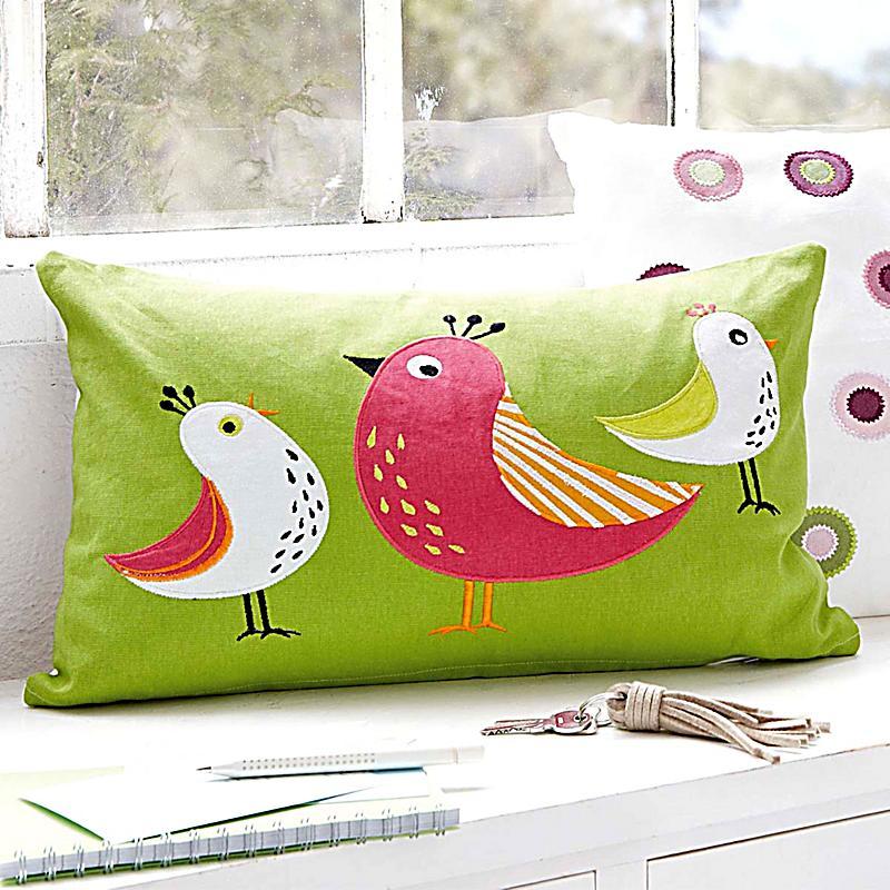 kissenh lle birds gr n bunt jetzt bei bestellen. Black Bedroom Furniture Sets. Home Design Ideas