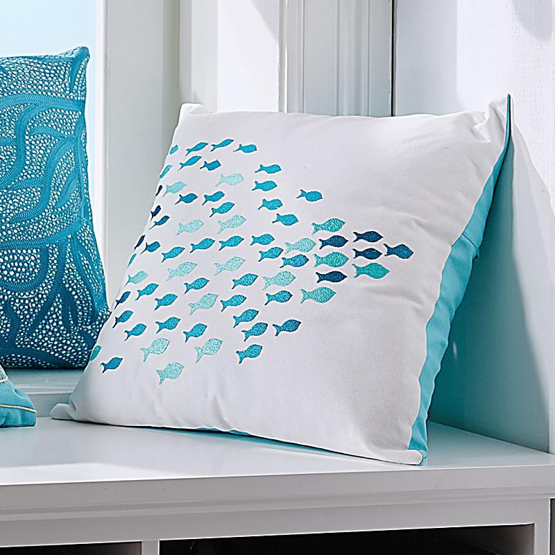 kissenh lle blue fish wei blau jetzt bei bestellen. Black Bedroom Furniture Sets. Home Design Ideas