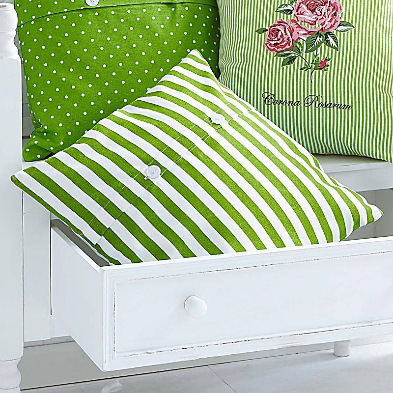 kissenh lle corona gr n muster gestreift. Black Bedroom Furniture Sets. Home Design Ideas