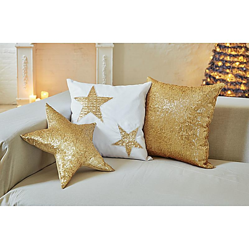 kissenh llen set weihnachten 3 tlg goldfarben. Black Bedroom Furniture Sets. Home Design Ideas