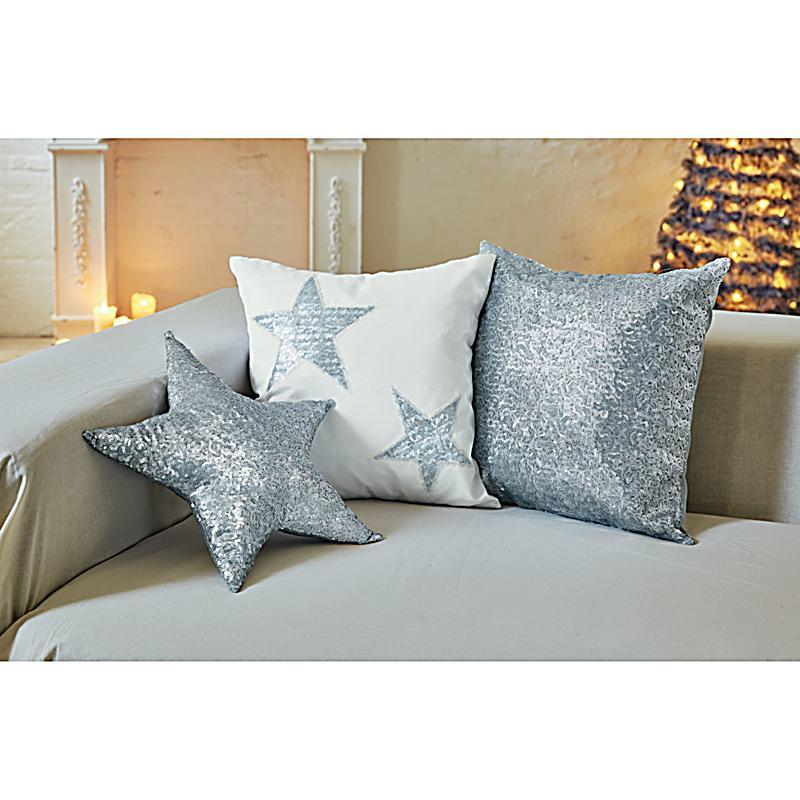 kissenh llen set weihnachten 3 tlg silberfarben. Black Bedroom Furniture Sets. Home Design Ideas