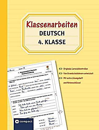 klassenarbeiten deutsch 4 klasse buch portofrei bei